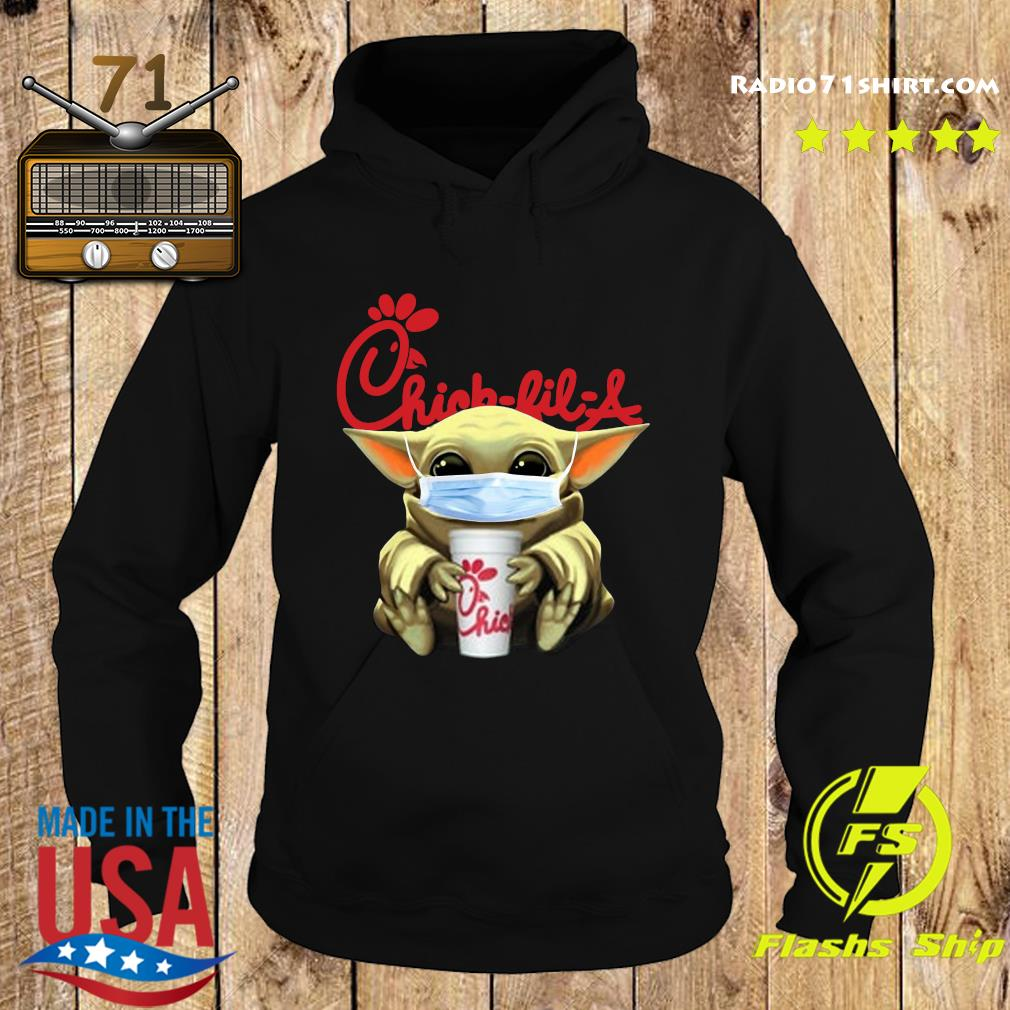 Baby Yoda Face Mask Hug Chick Fil A Shirt Hoodie