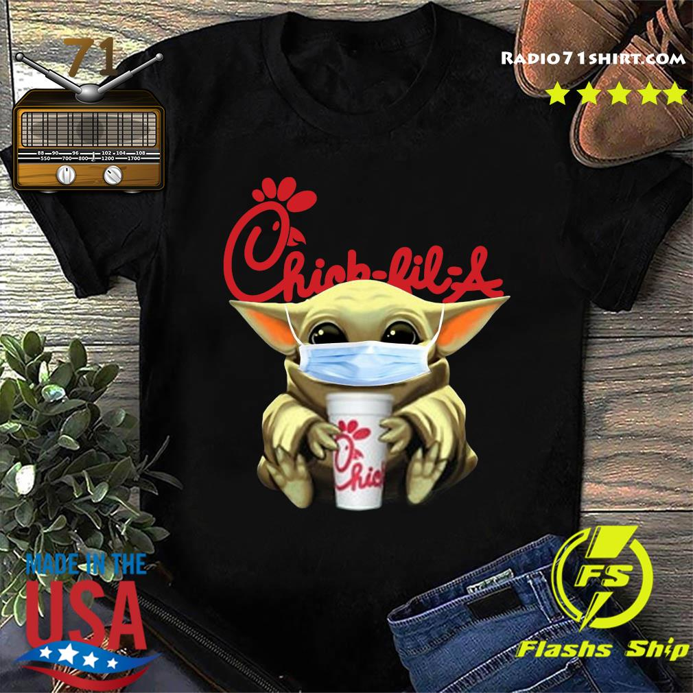 Baby Yoda Face Mask Hug Chick Fil A Shirt