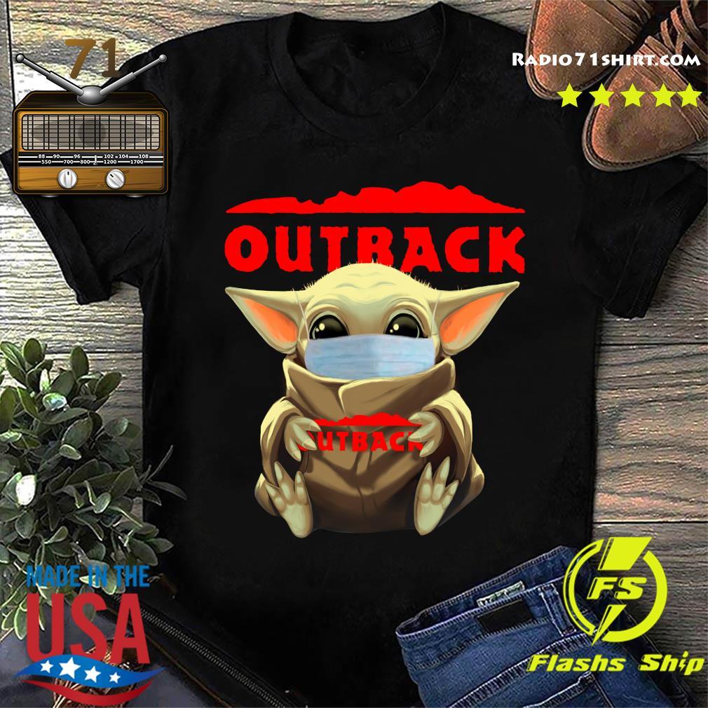 Baby Yoda Face Mask Hug Outback Shirt