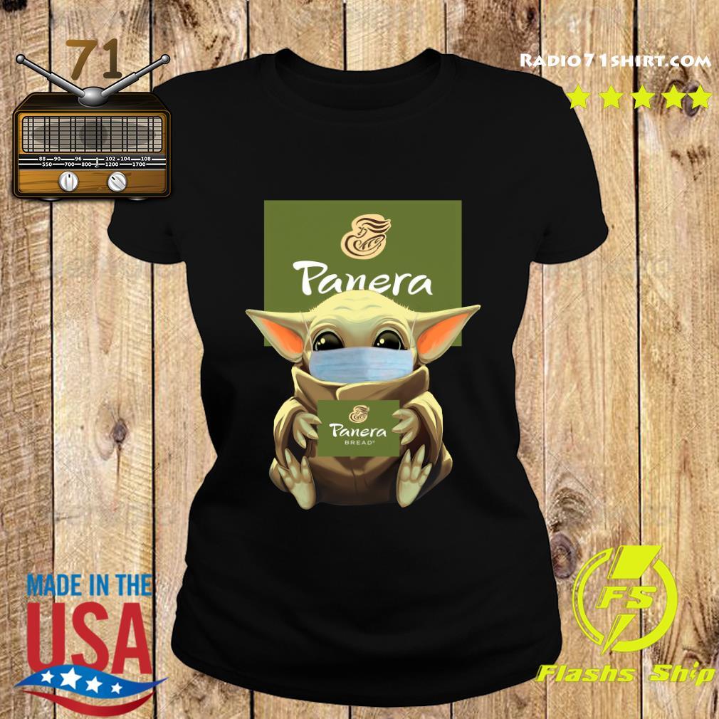 Baby Yoda Face Mask Hug Panera Bread Shirt Ladies tee