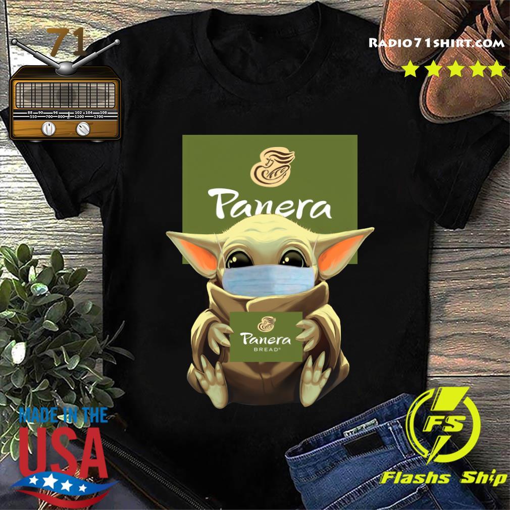 Baby Yoda Face Mask Hug Panera Bread Shirt