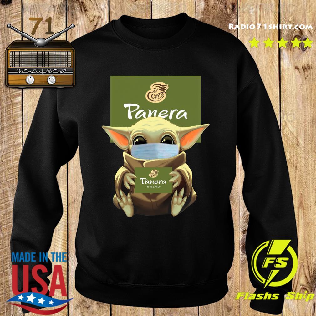 Baby Yoda Face Mask Hug Panera Bread Shirt Sweater