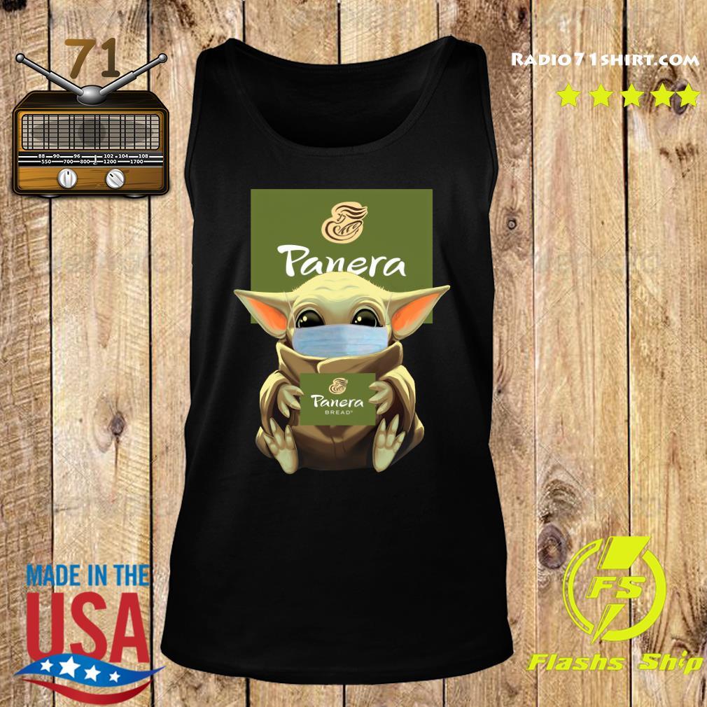 Baby Yoda Face Mask Hug Panera Bread Shirt Tank top