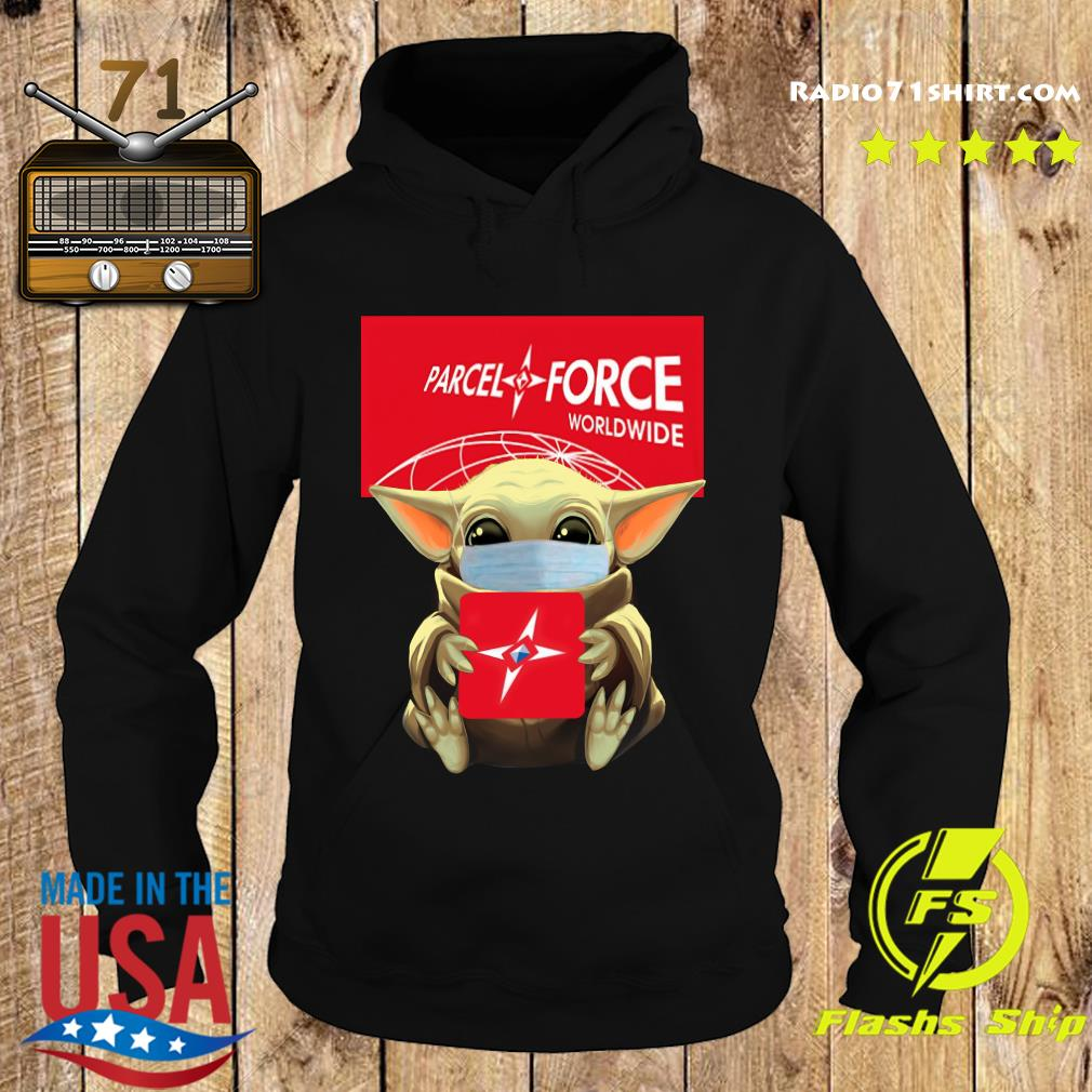 Baby Yoda Face Mask Hug Parcel Force Worldwide Shirt Hoodie