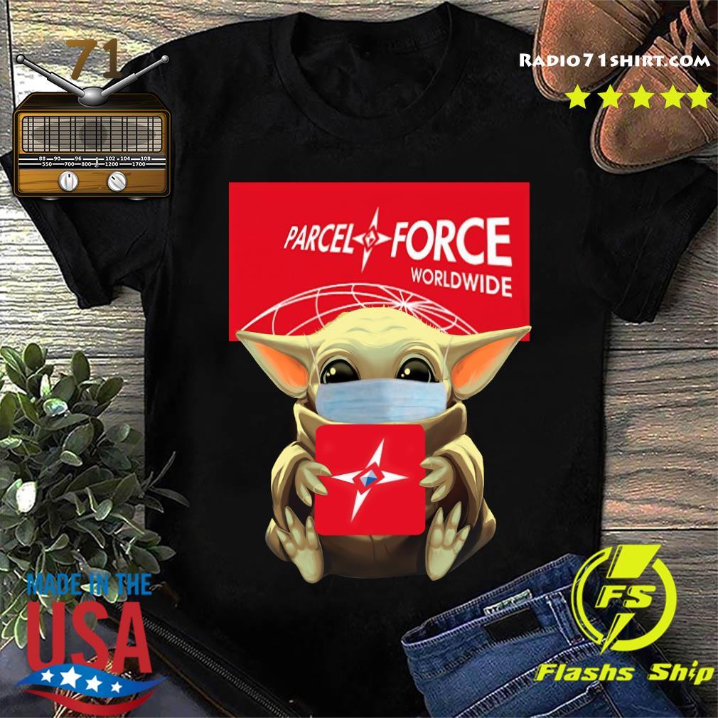 Baby Yoda Face Mask Hug Parcel Force Worldwide Shirt