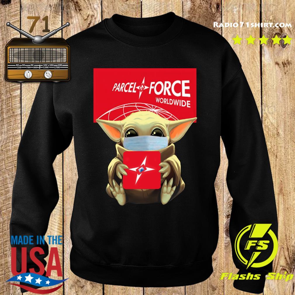 Baby Yoda Face Mask Hug Parcel Force Worldwide Shirt Sweater