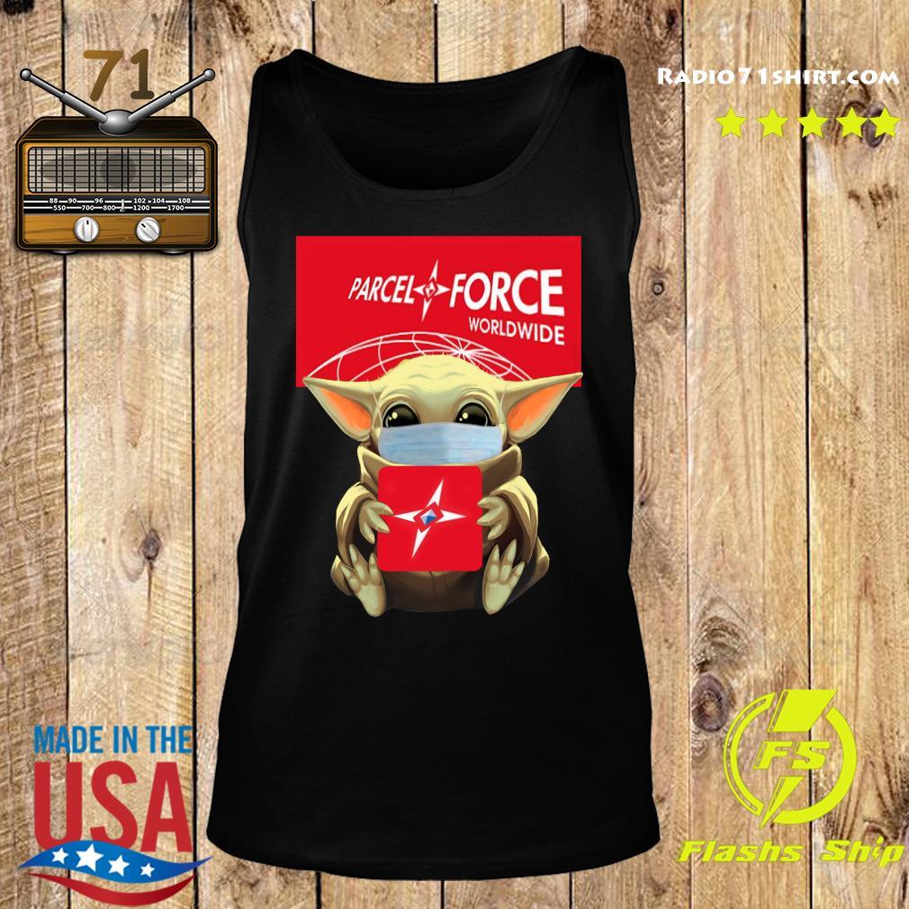 Baby Yoda Face Mask Hug Parcel Force Worldwide Shirt Tank top