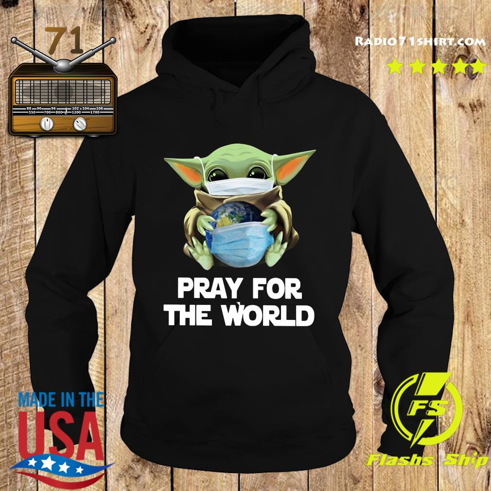 Baby Yoda Face Mask Hug Pray For The World corona virus Shirt Hoodie