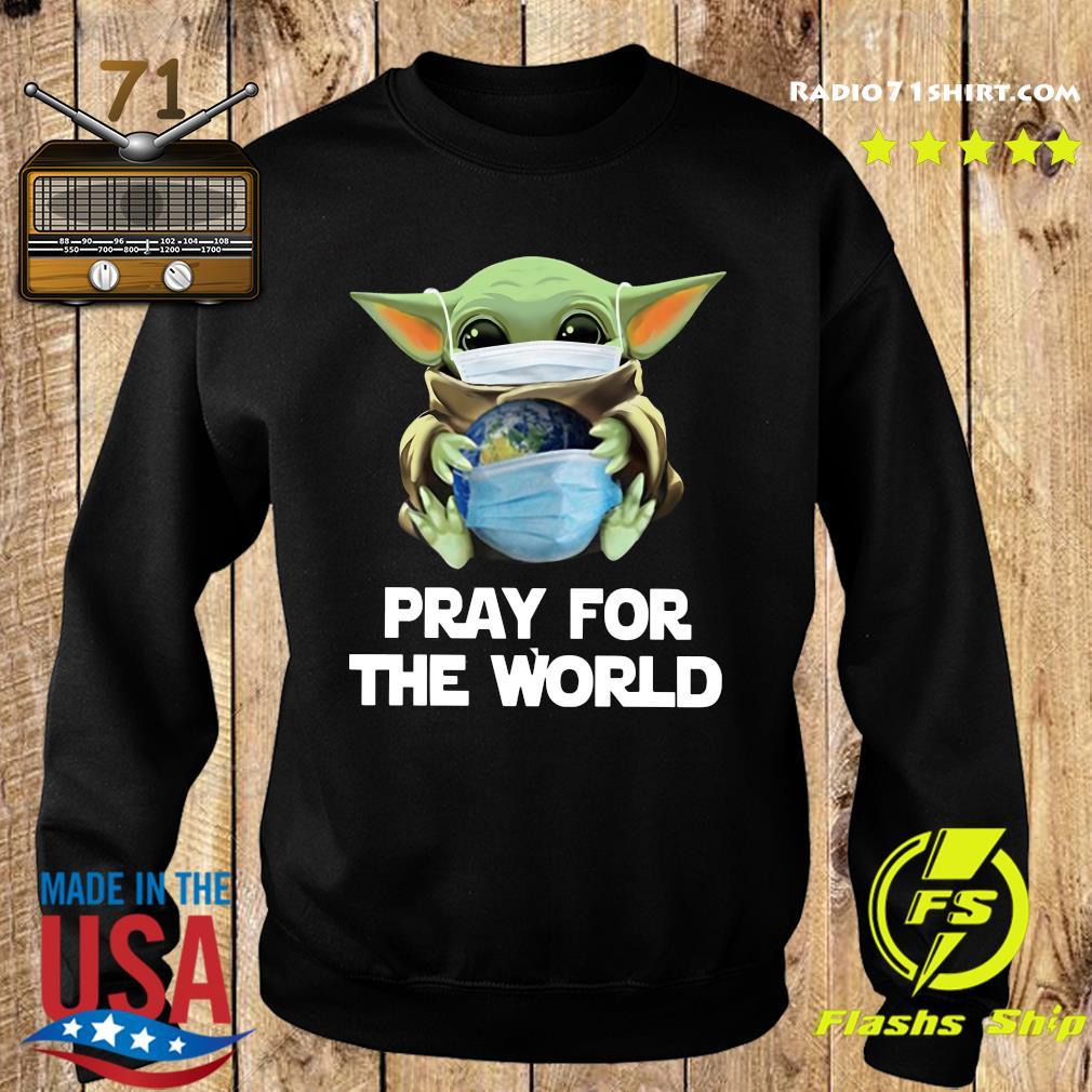 Baby Yoda Face Mask Hug Pray For The World corona virus Shirt Sweater