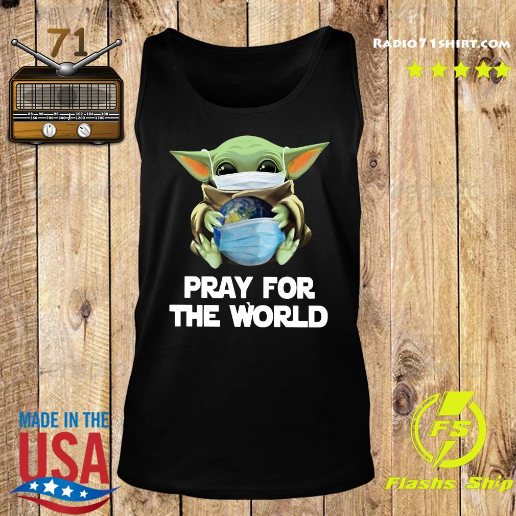 Baby Yoda Face Mask Hug Pray For The World corona virus Shirt Tank top