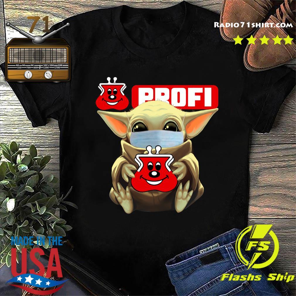 Baby Yoda Face Mask Hug Profi Shirt