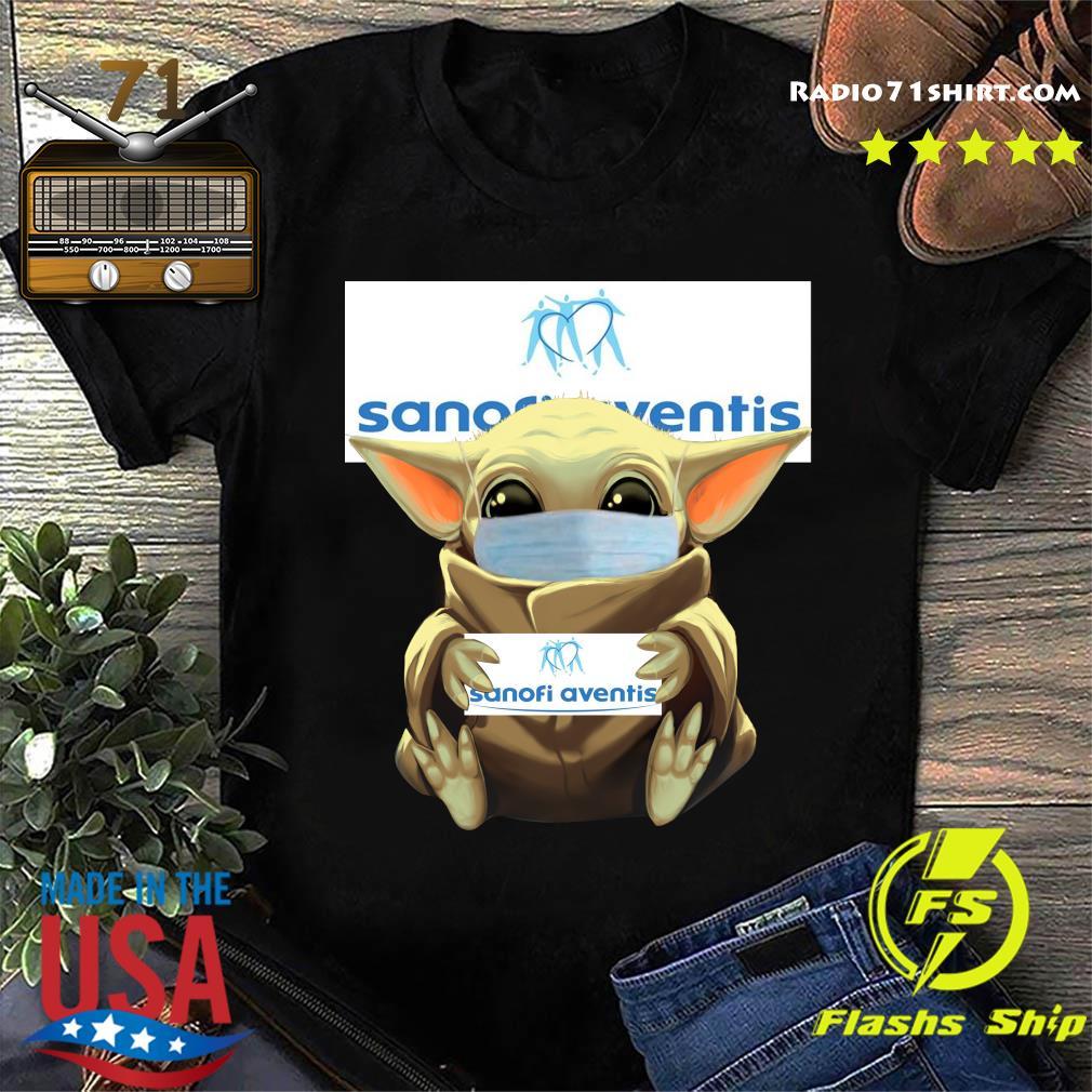 Baby Yoda Face Mask Hug sanofi aventis Shirt