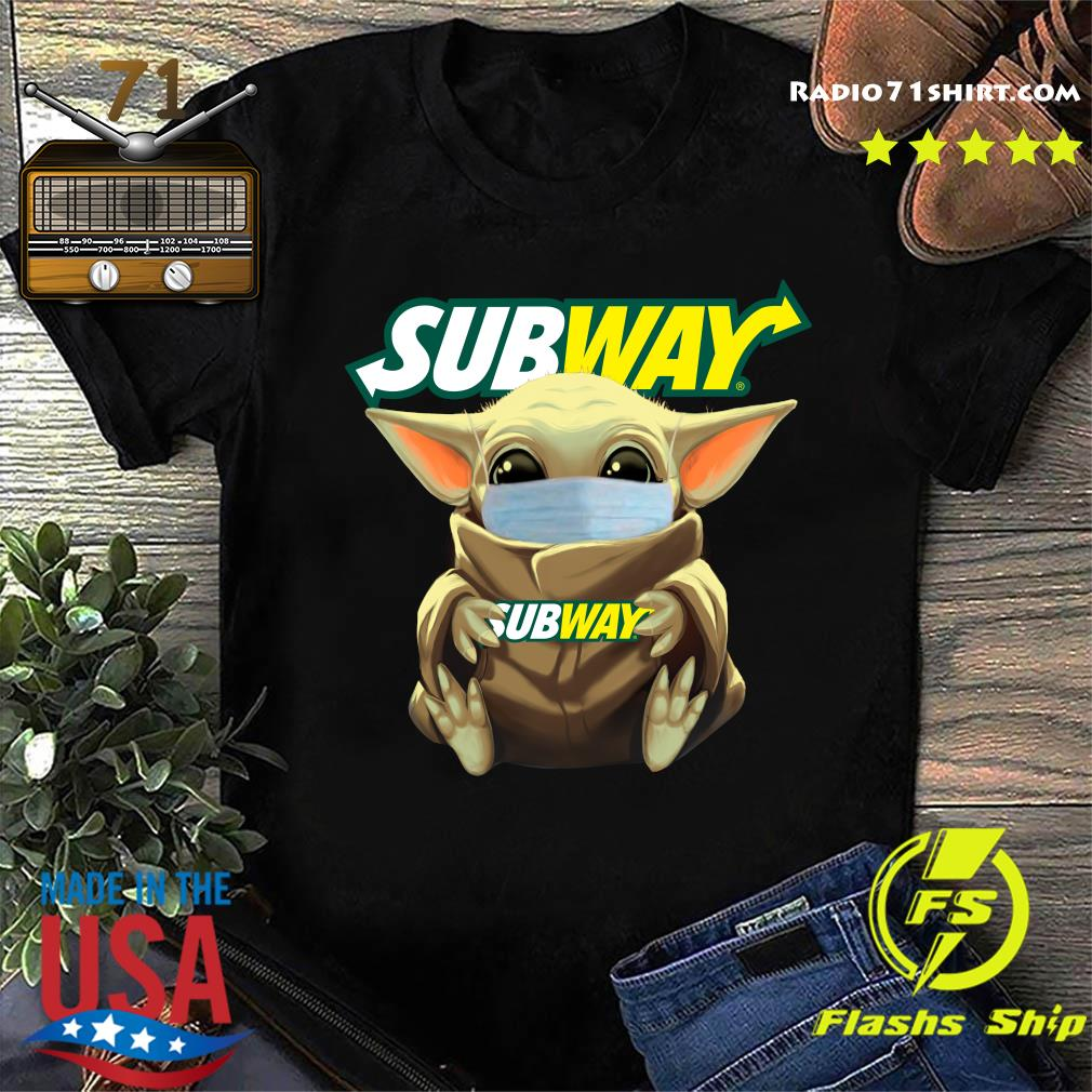 Baby Yoda Face Mask Hug Subway Shirt