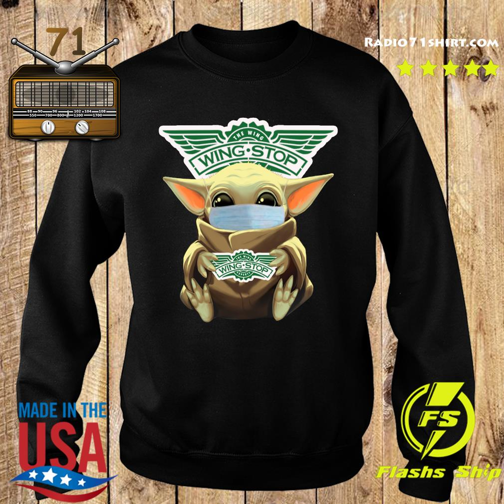 Baby Yoda Face Mask Hug The Wingstop Shirt Sweater