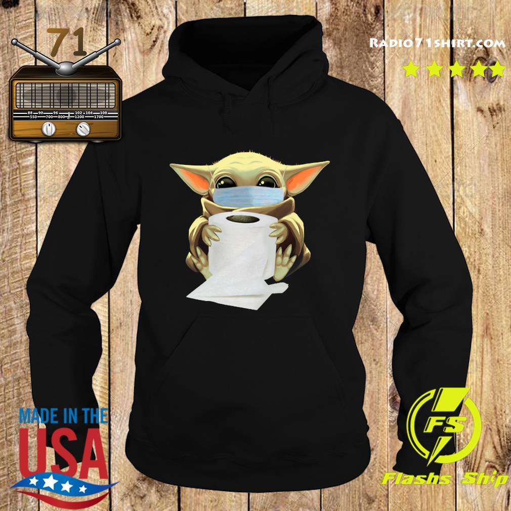 Baby Yoda Face Mask Hug Toilet Paper Shirt Hoodie