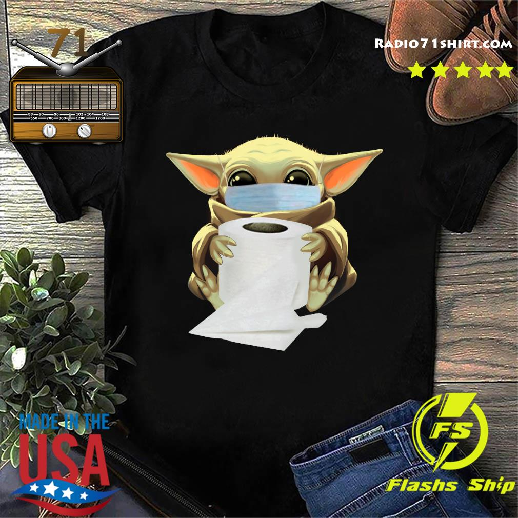 Baby Yoda Face Mask Hug Toilet Paper Shirt