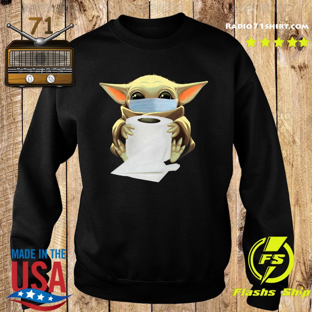 Baby Yoda Face Mask Hug Toilet Paper Shirt Sweater
