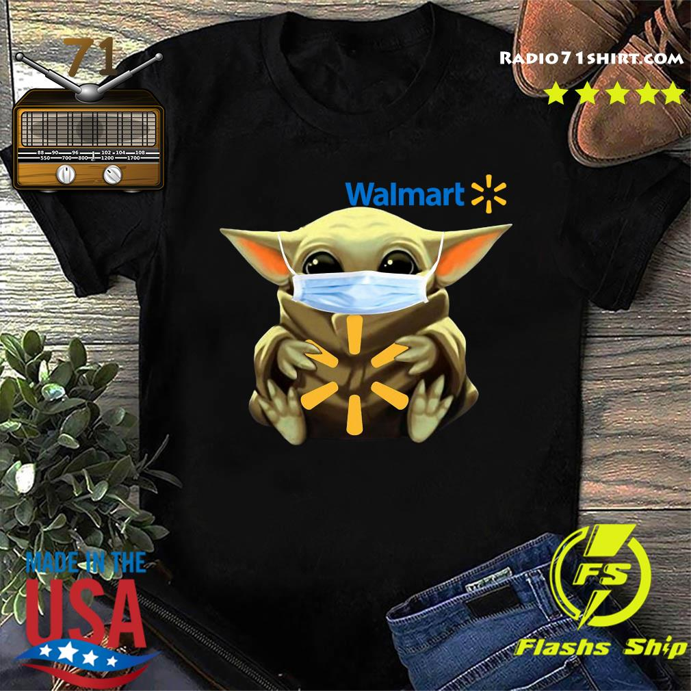Baby Yoda Face Mask Hug Walmart Shirt