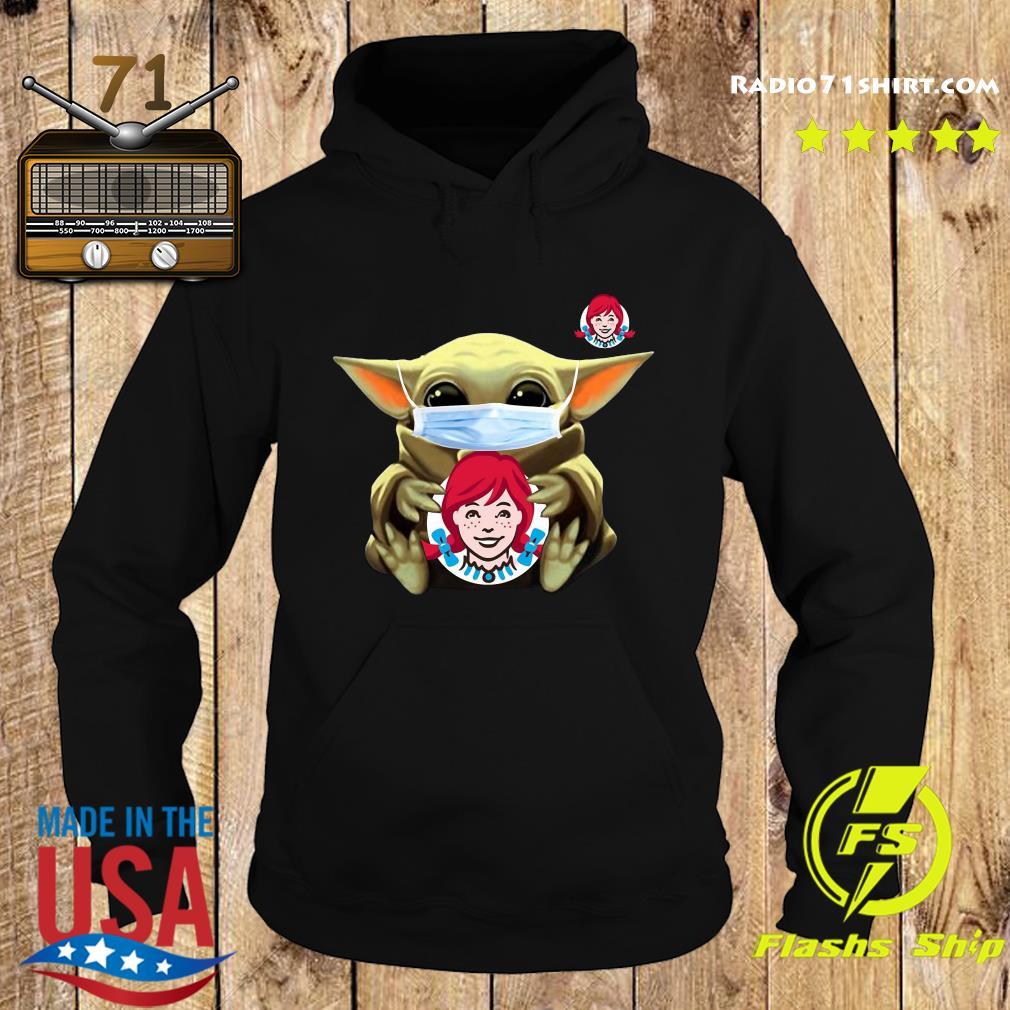 Baby Yoda Face Mask Hug Wendy's Shirt Hoodie