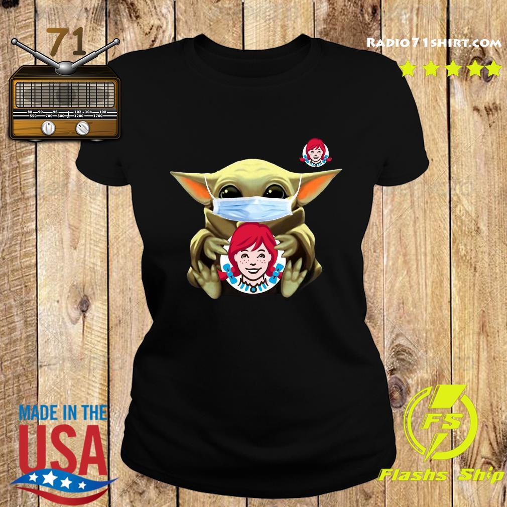 Baby Yoda Face Mask Hug Wendy's Shirt Ladies tee