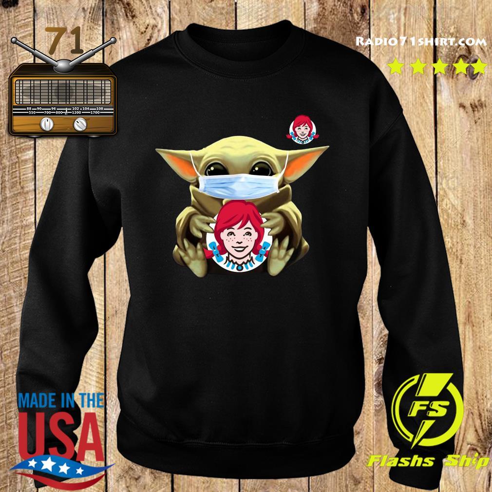 Baby Yoda Face Mask Hug Wendy's Shirt Sweater