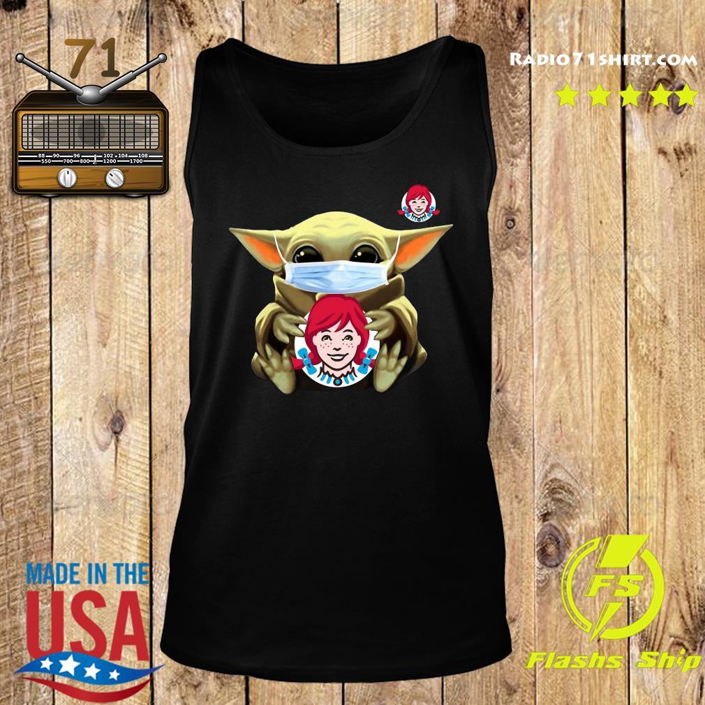 Baby Yoda Face Mask Hug Wendy's Shirt Tank top