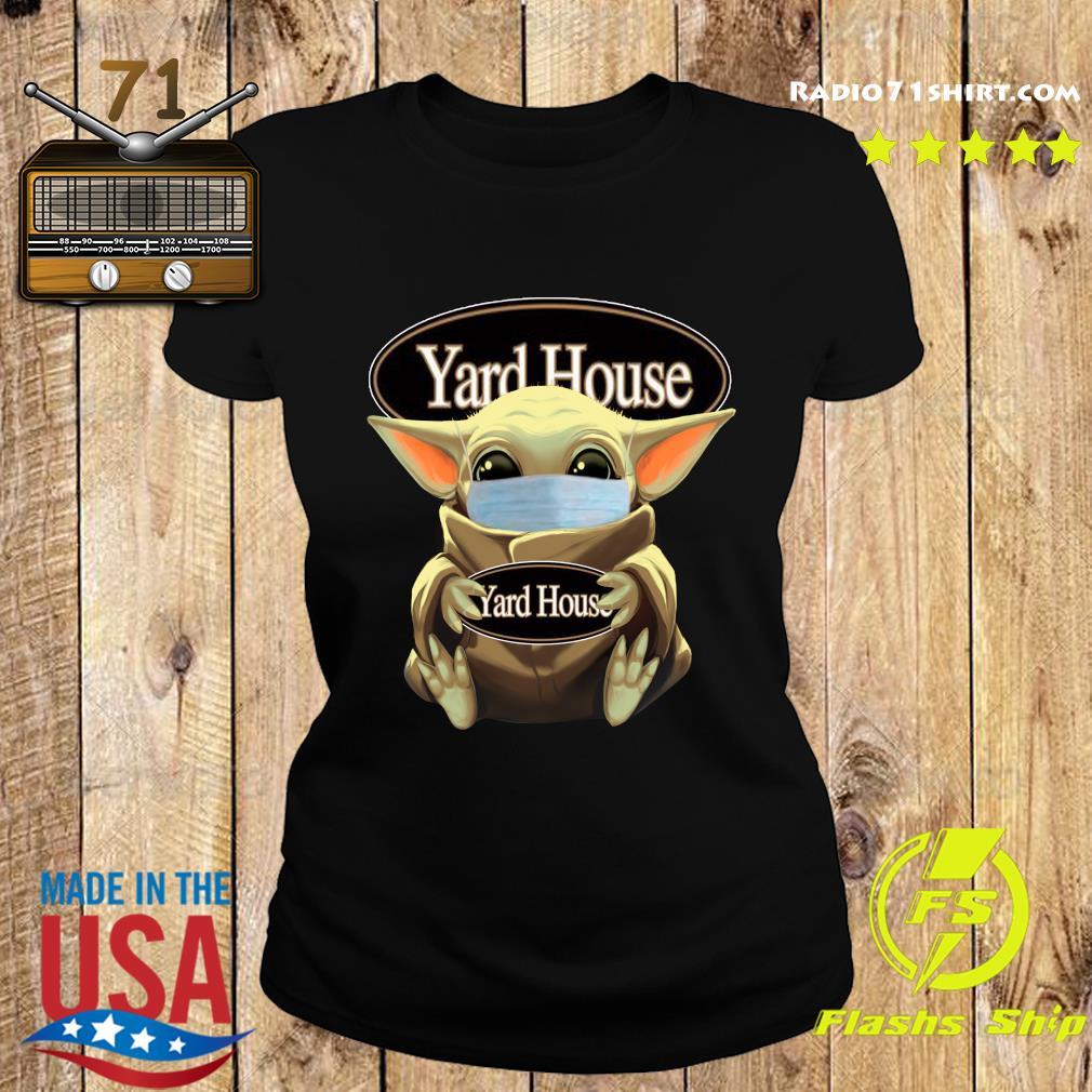 Baby Yoda Face Mask Hug Yard House Shirt Ladies tee