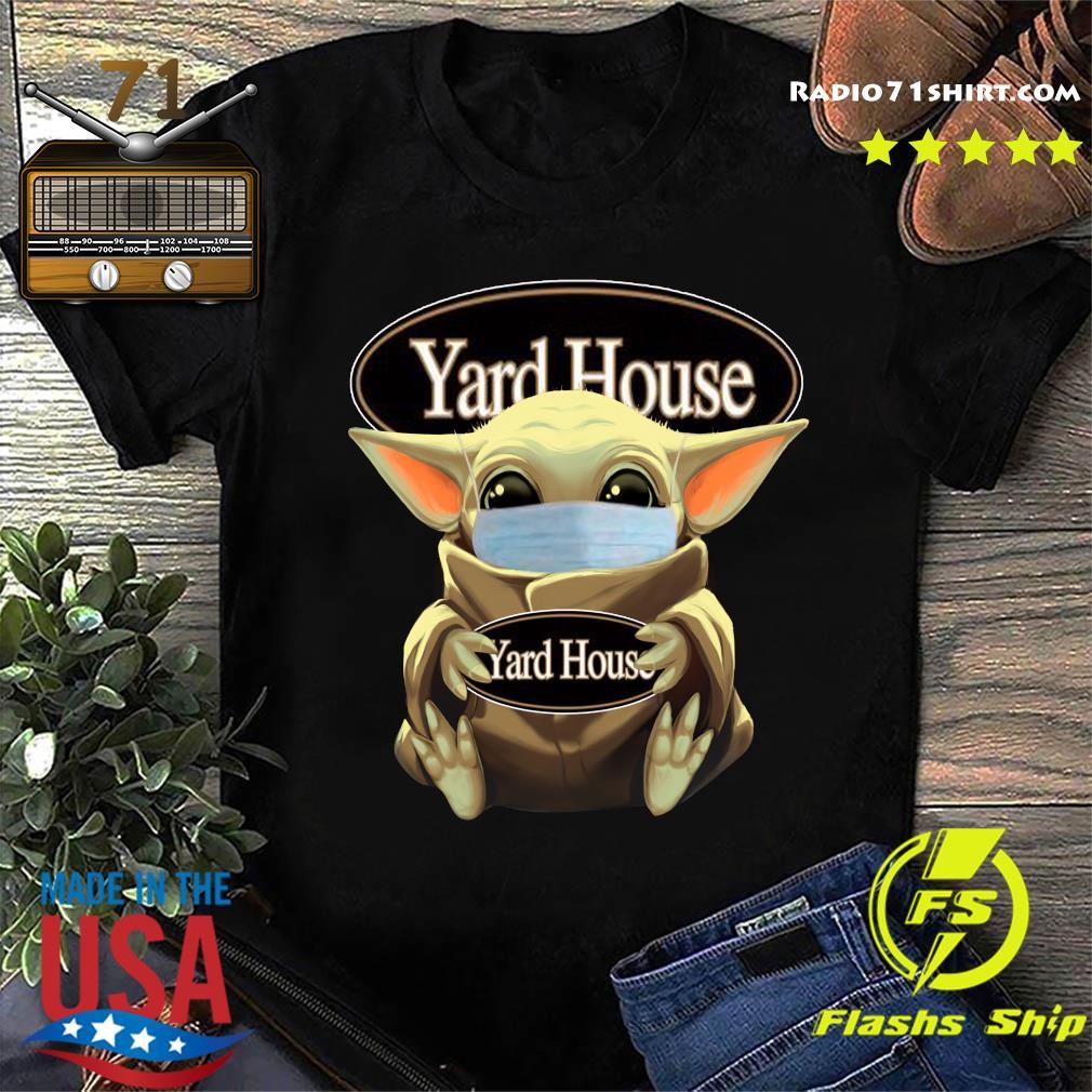 Baby Yoda Face Mask Hug Yard House Shirt