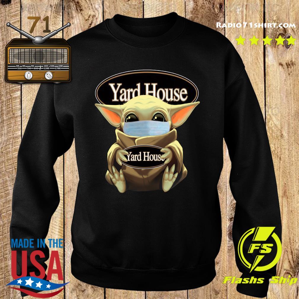 Baby Yoda Face Mask Hug Yard House Shirt Sweater