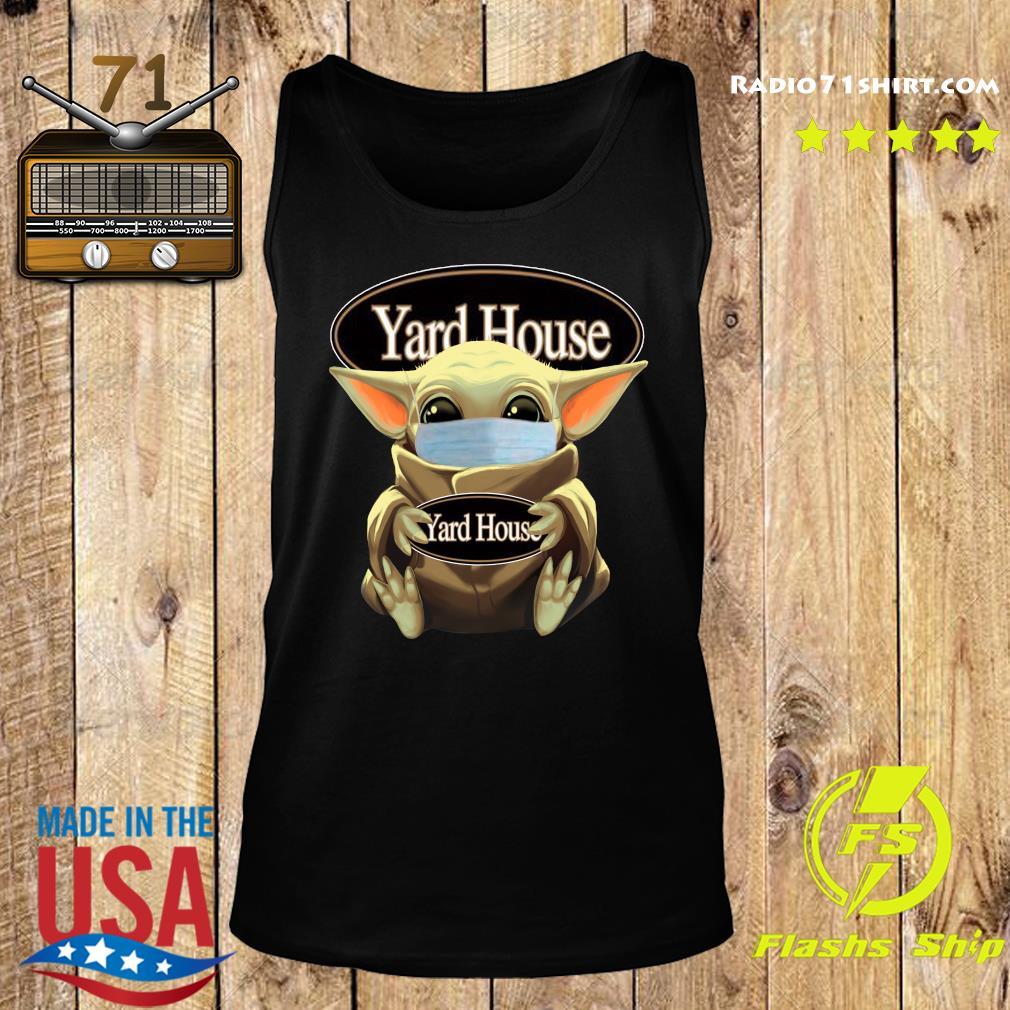 Baby Yoda Face Mask Hug Yard House Shirt Tank top