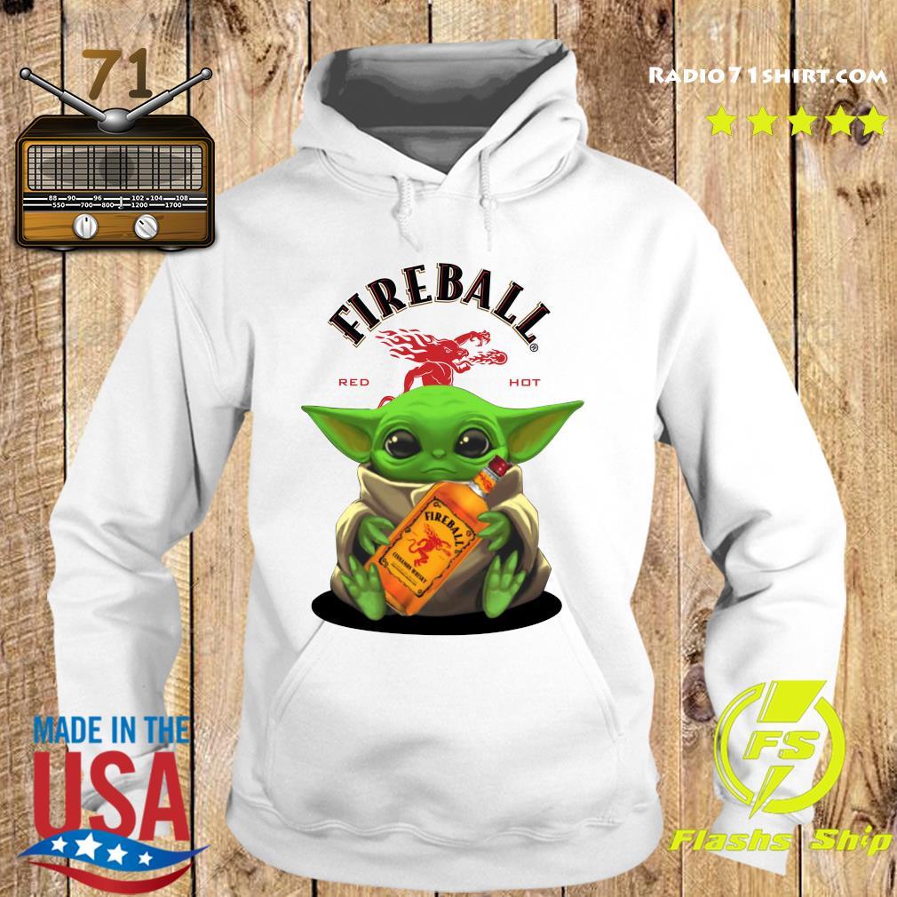 Baby Yoda Fireball Red Hot Shirt Hoodie