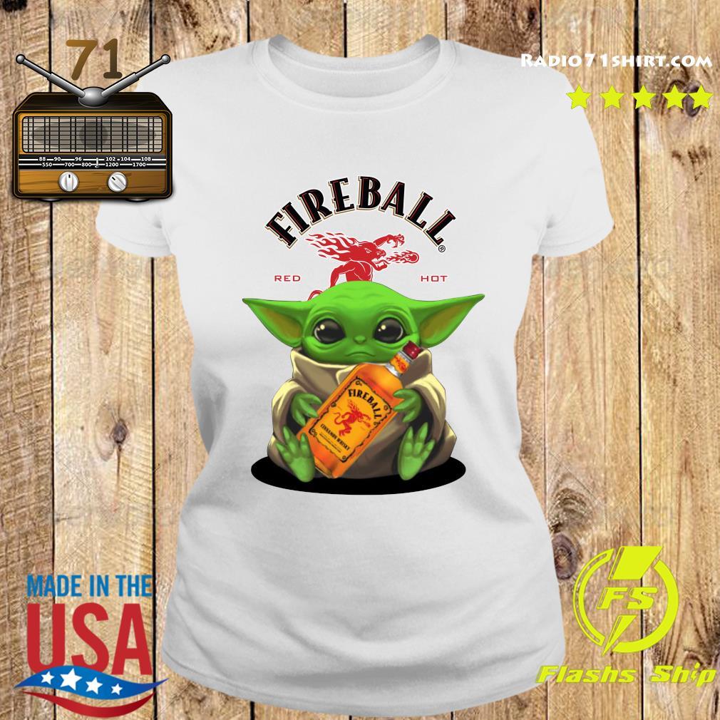 Baby Yoda Fireball Red Hot Shirt Ladies tee
