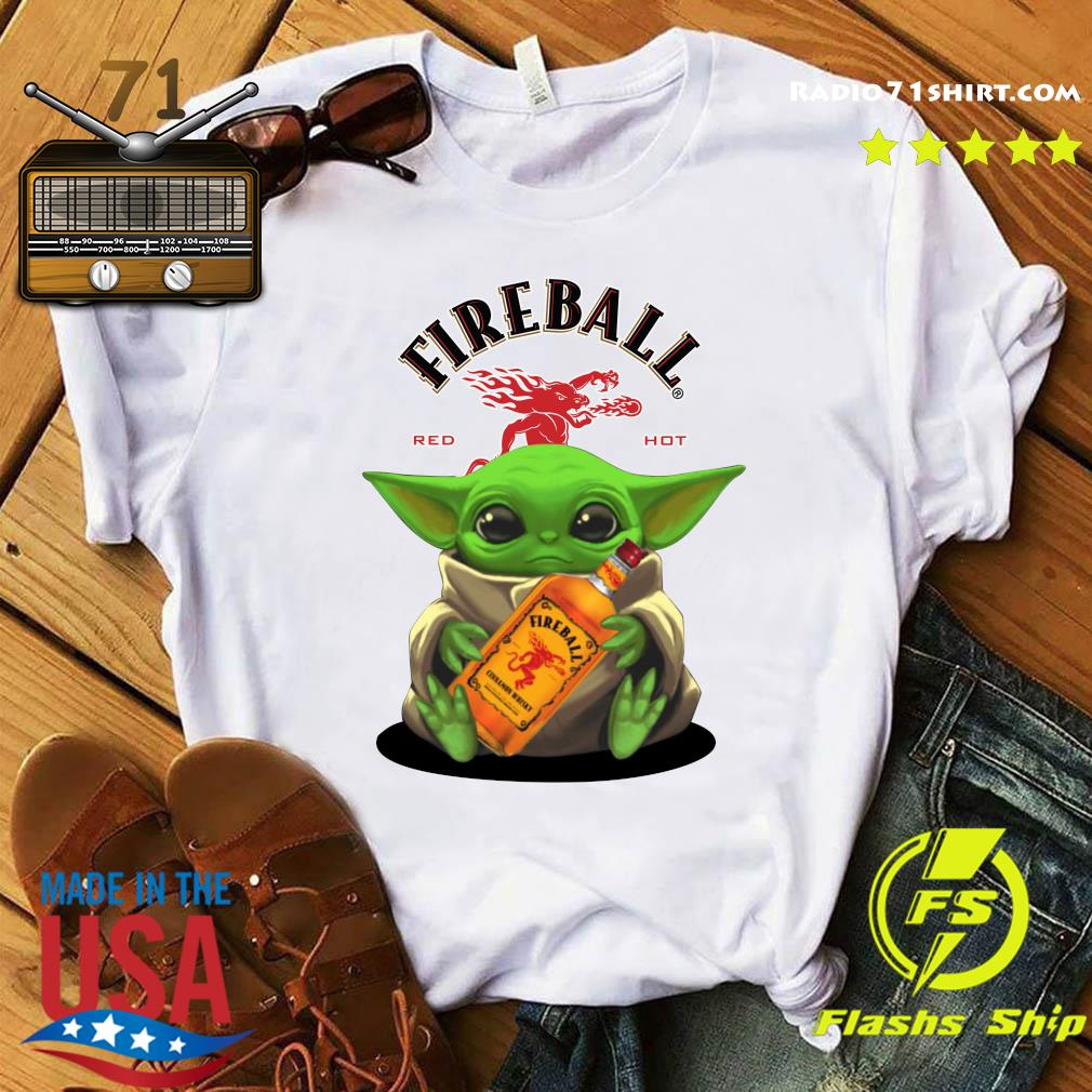 Baby Yoda Fireball Red Hot Shirt