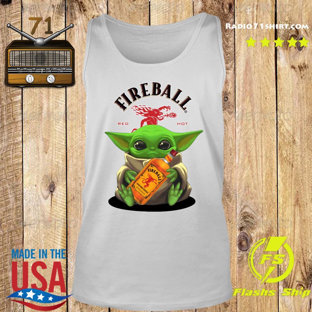 Baby Yoda Fireball Red Hot Shirt Tank top