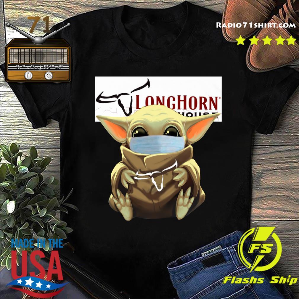 Baby Yoda Mask Hug Longhorn Steakhouse Shirt