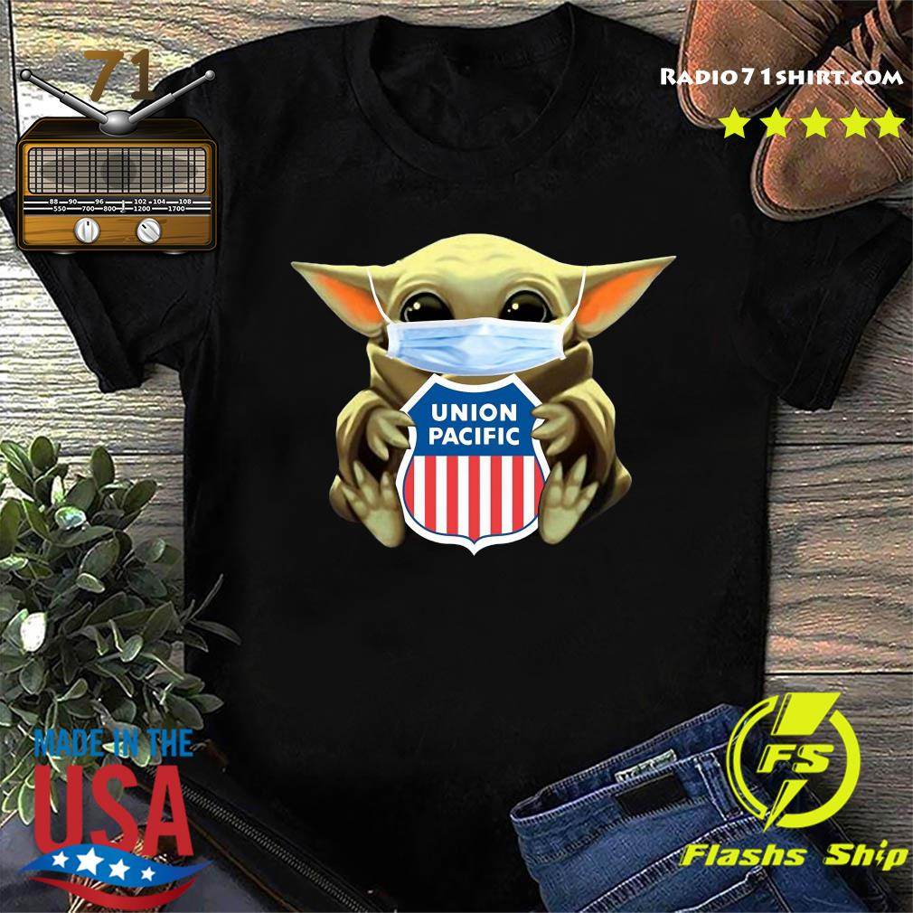Baby Yoda Mask Hug Union Pacific Shirt