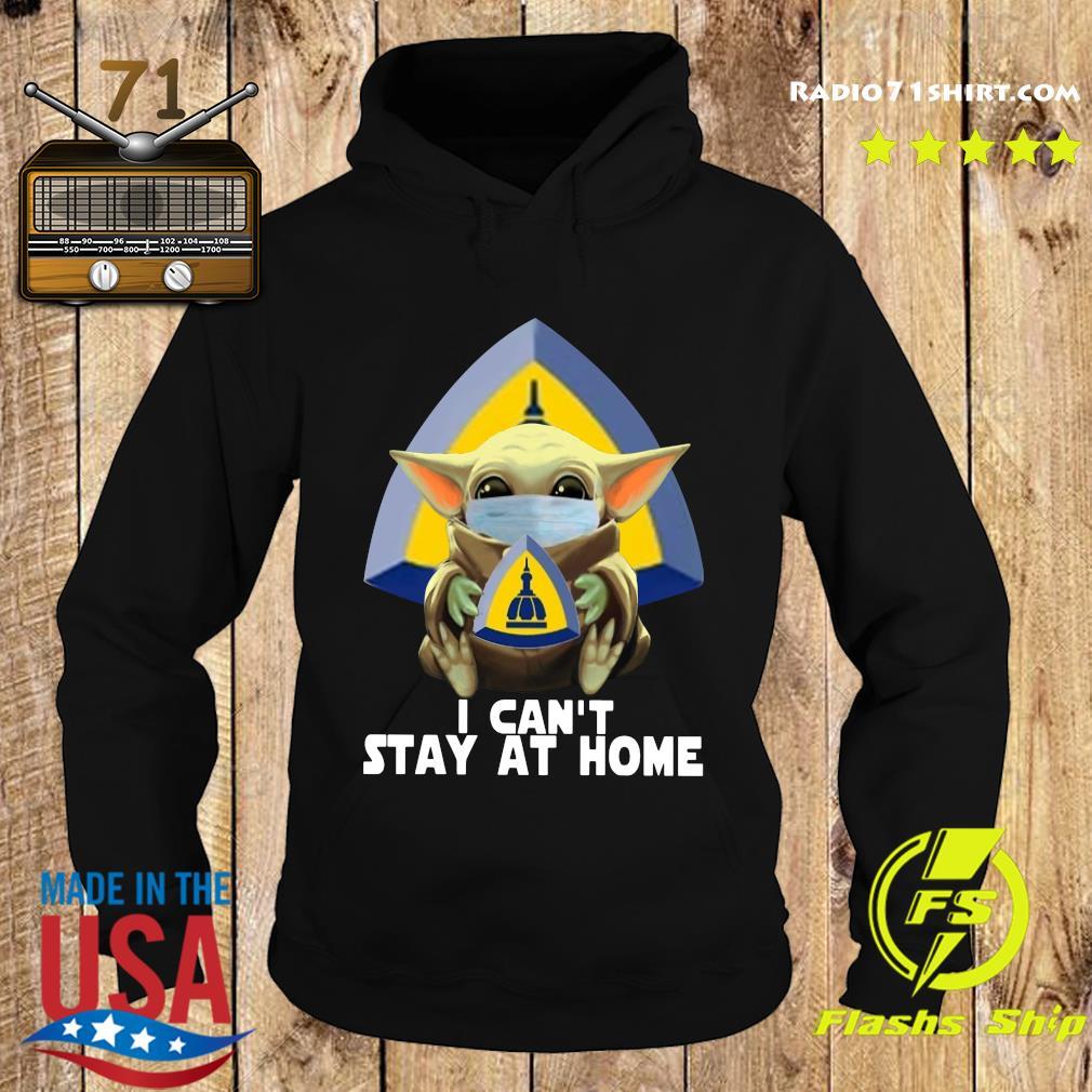 Baby Yoda Mask Johns Hopkins University School Of Nursing I Can't Stay At Home Shirt Hoodie