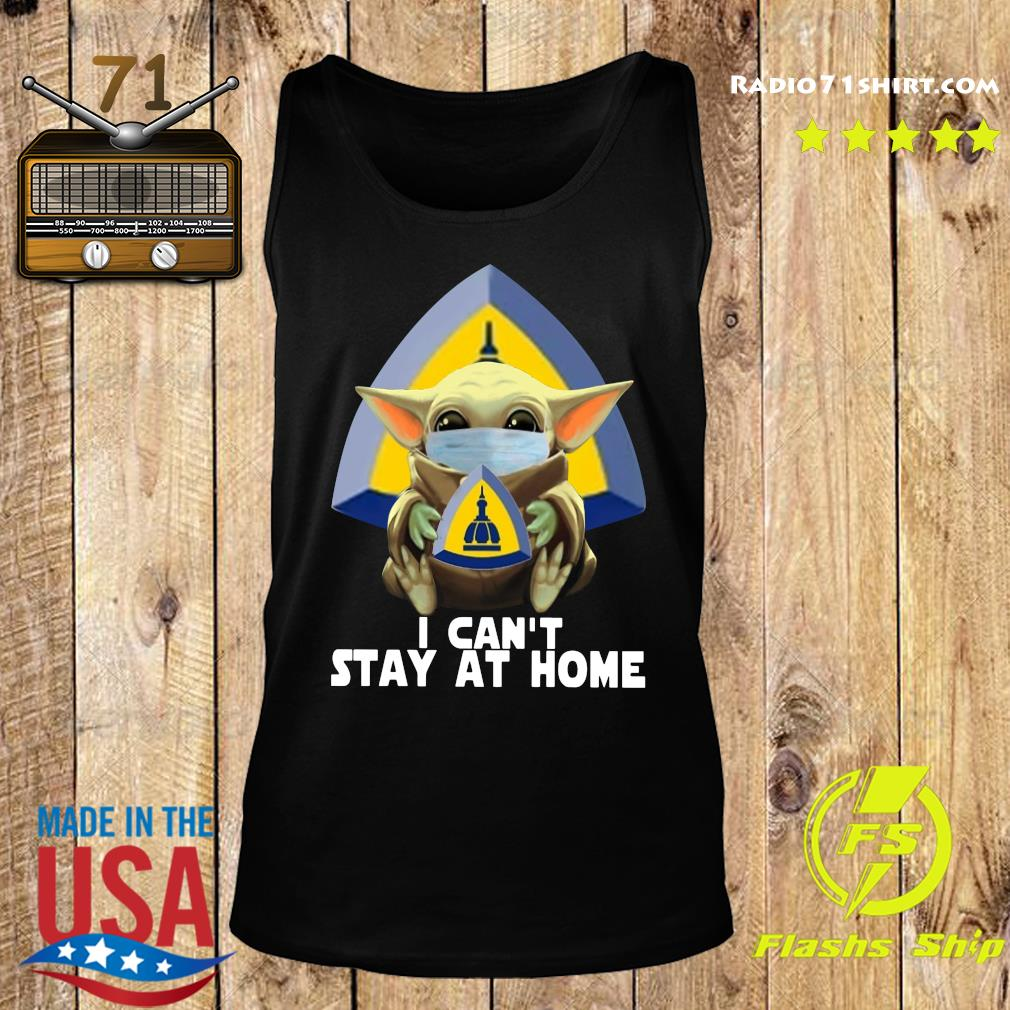 Baby Yoda Mask Johns Hopkins University School Of Nursing I Can't Stay At Home Shirt Tank top