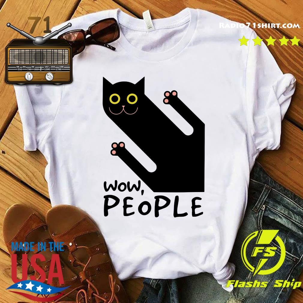 Black Cat Wow People Shirt
