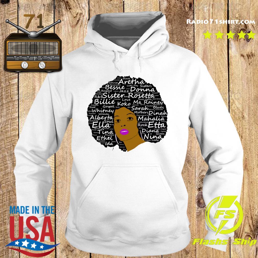 Black History Month Powerful Singers Natural Hair Shirt Hoodie