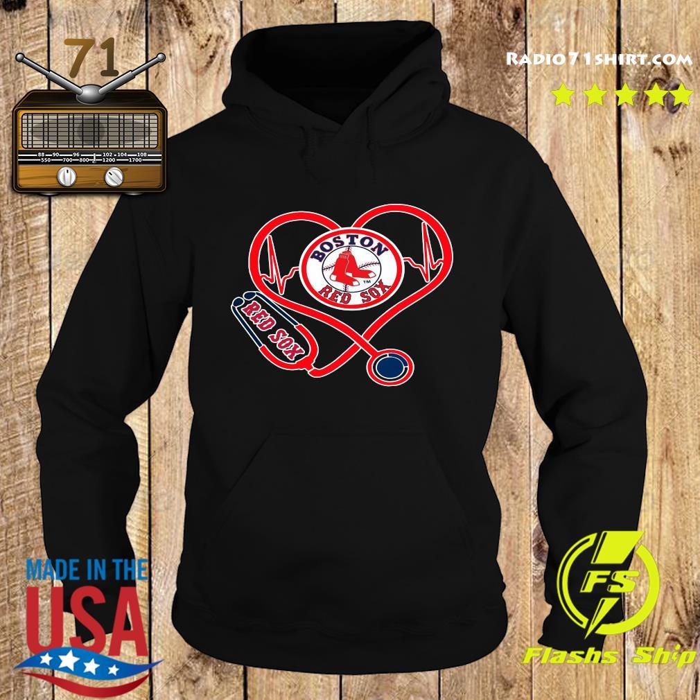 Boston Red Sox Stethoscope Heart Shirt Hoodie