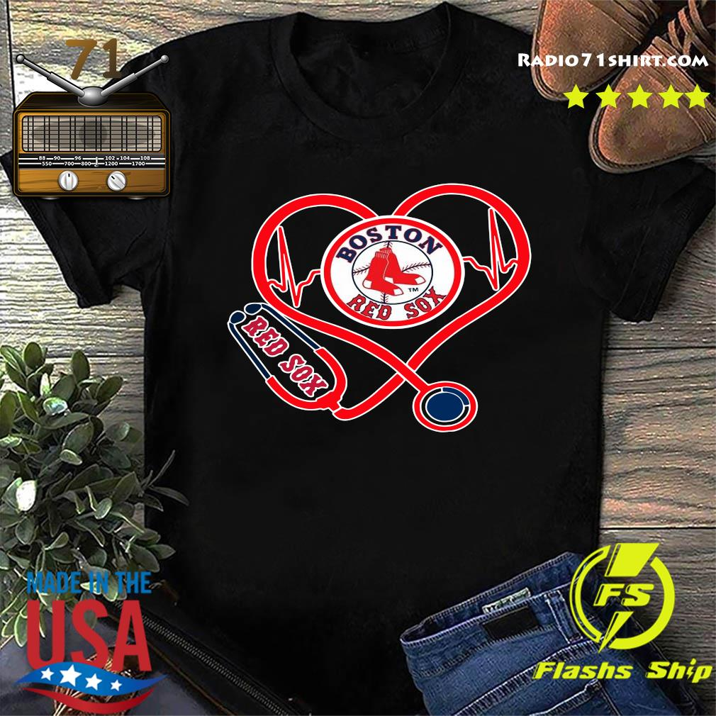 Boston Red Sox Stethoscope Heart Shirt