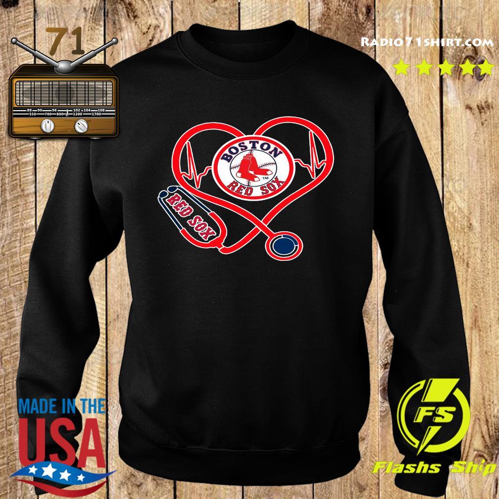 Boston Red Sox Stethoscope Heart Shirt Sweater