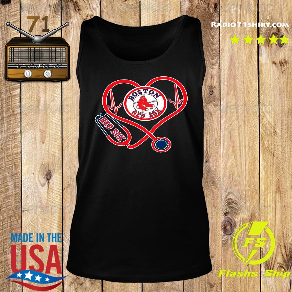 Boston Red Sox Stethoscope Heart Shirt Tank top