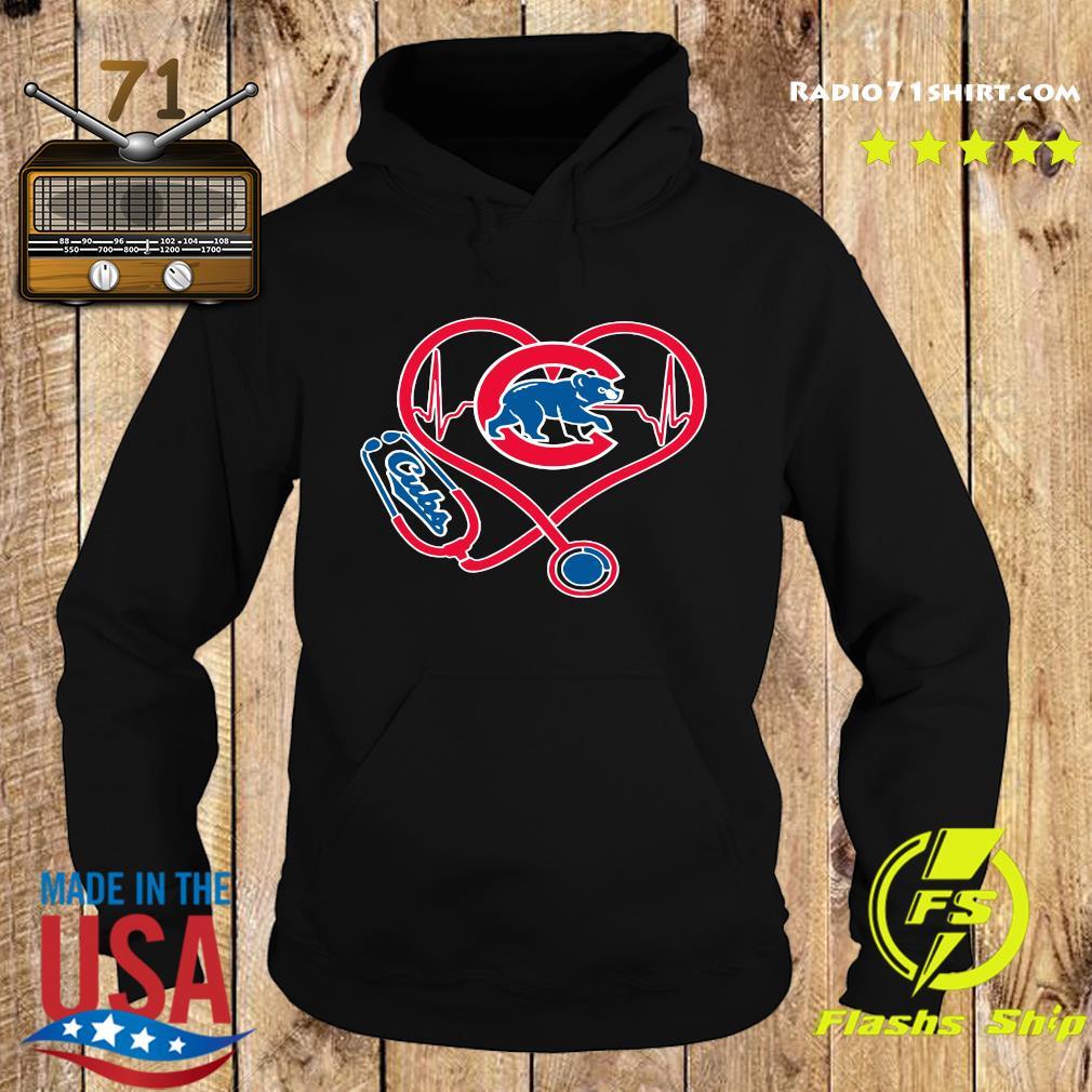 Chicago Cubs Baseball Stethoscope Heartbeat Shirt Hoodie