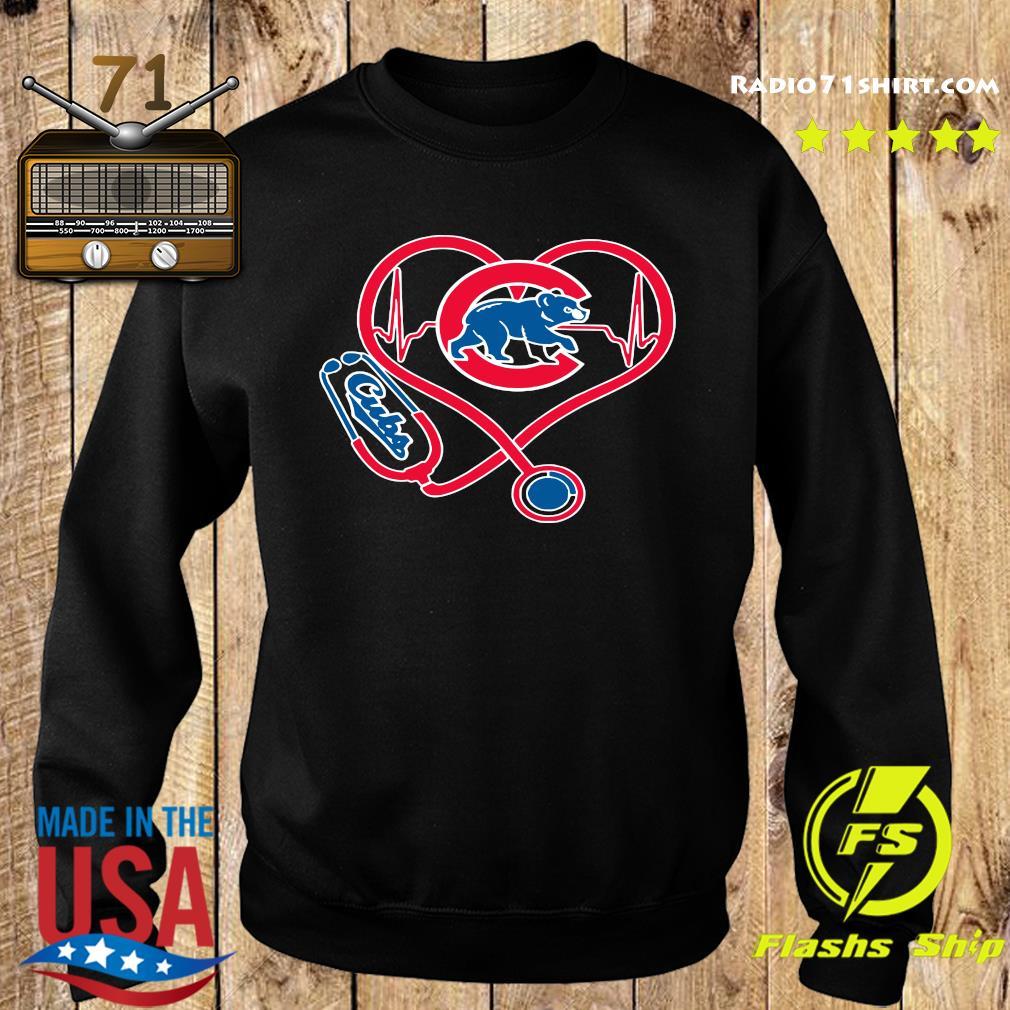 Chicago Cubs Baseball Stethoscope Heartbeat Shirt Sweater