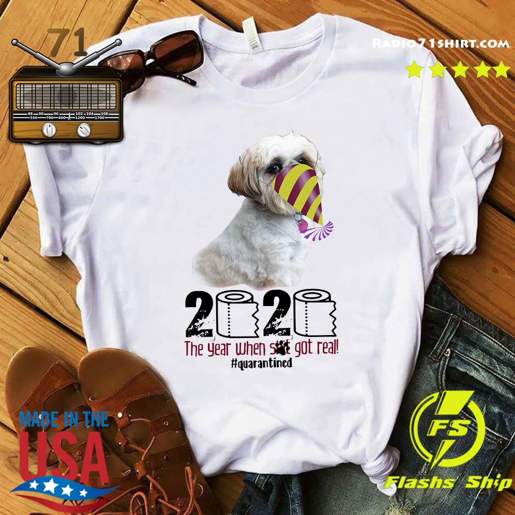 Companion Dog 2020 The Year When Shit Got Real Quarantined Shirt