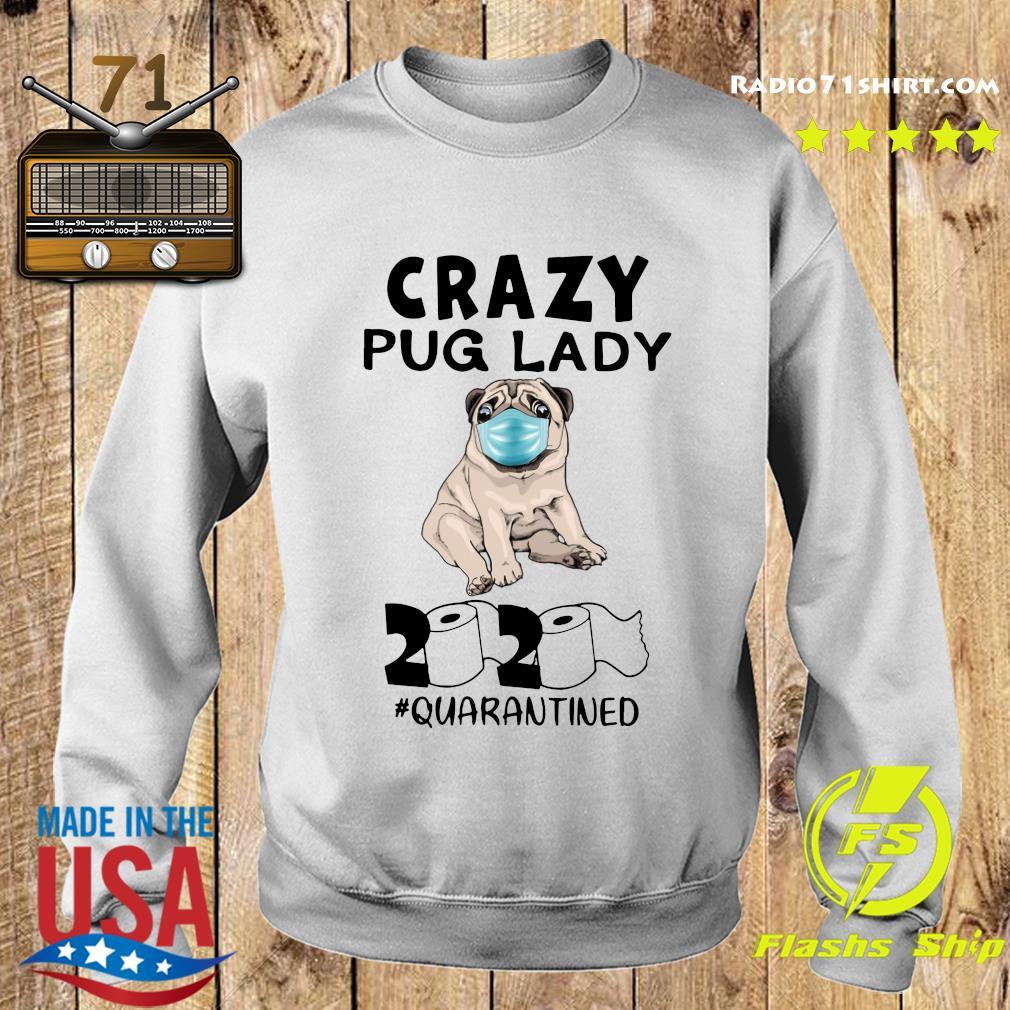 tee Crazy Pug Lady Halloween Unisex Sweatshirt