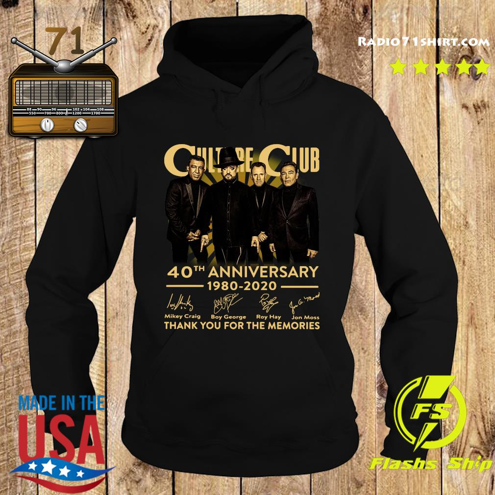 Culture Club 40th Anniversary 1980 2020 Thank You For The Memories Signatures Shirt Hoodie