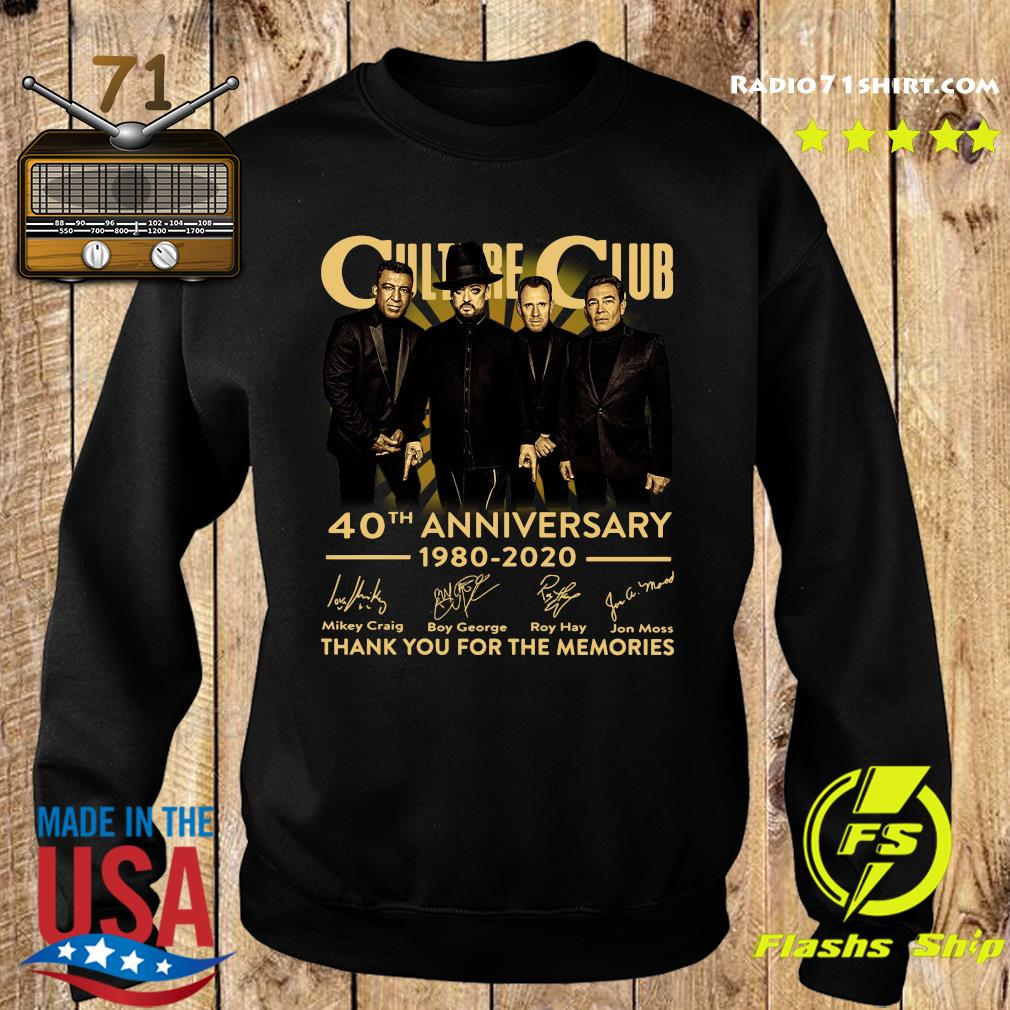Culture Club 40th Anniversary 1980 2020 Thank You For The Memories Signatures Shirt Sweater